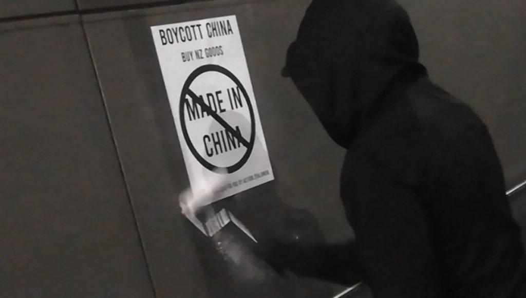 Action Zealandia Anti-China Postering