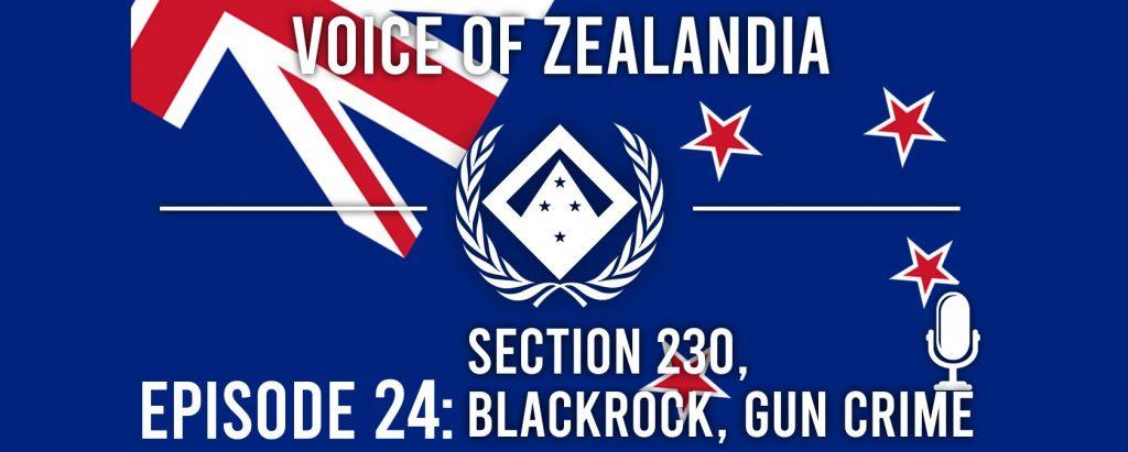 Voice of Zealandia 24 – Section 230, BlackRock and Gun Crime