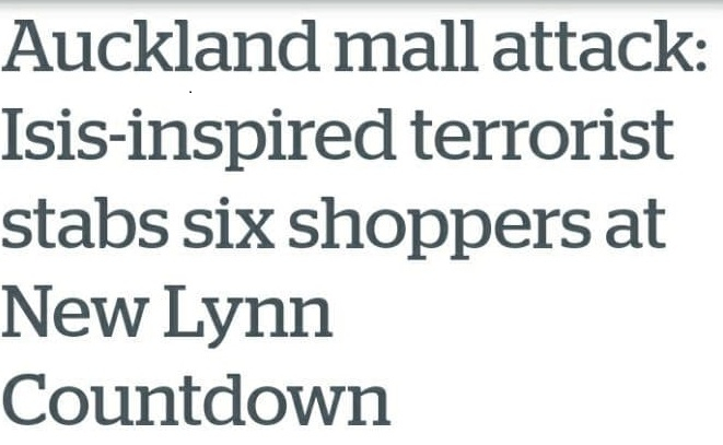 Wahhabist Knife Attack in Auckland –Liberal Cant Unabated